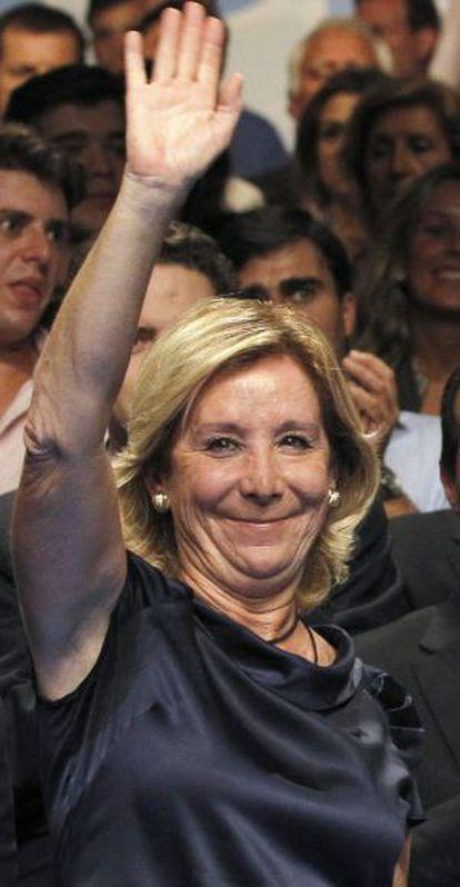 La presidenta del PP de Madrid, Esperanza Aguirre, en un acto reciente.