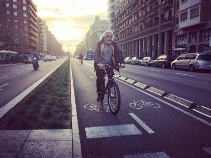 Carril bici en Poble Sec