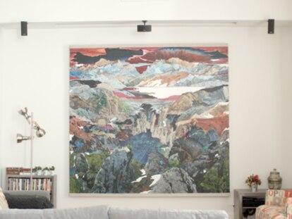 Una obra de Santiago Giralda en la casa de la coleccionista Candela A. Soldevilla.