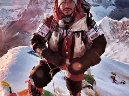 Nirmal Purja durante su ascensión al Everest. Mayo 2019.