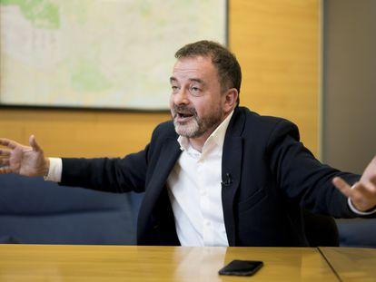 Alfred Bosch, candidato de ERC, durante la entrevista.