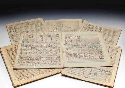 La partitura de la 'Segunda Sinfonía' de Mahler que sale a subasta.