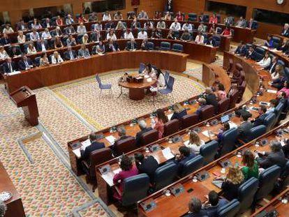 Un pleno de la Asamblea de Madrid, el pasado julio.