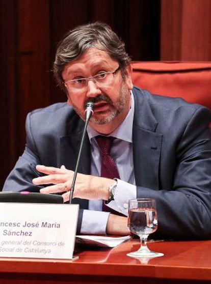 Francesc José María, ayer en el Parlament.