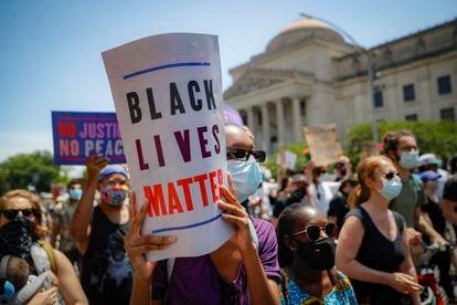 Una de las manifestaciones contra el racismo, el pasado 19 de junio en Nueva York.