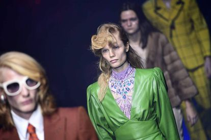 Varios modelos en el desfile de este miércoles de Gucci en Milán.