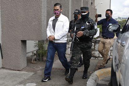 David Castillo, a su llegada a la Suprema Corte de Honduras este lunes.