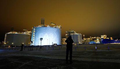 Planta de gas del proyecto Yamal LNG en la península de Yamal, en el noroeste de Siberia (Rusia).