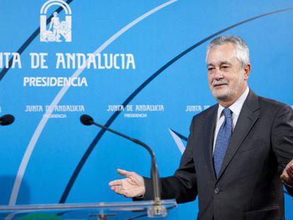 El presidente en funciones de la Junta, José Antonio Griñán.