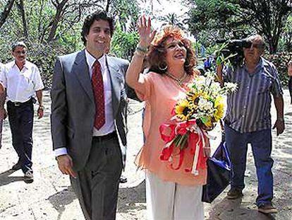 Sara Montiel con Tony Hernández.