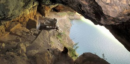 Yacimiento de Cueva Antón, junto al río Mula, en Murcia.