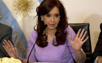 Cristina Fernández en febrero de este año.