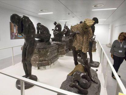 El hombre-leopardo ha pasado a los almacenes del Museo Real de África belga.