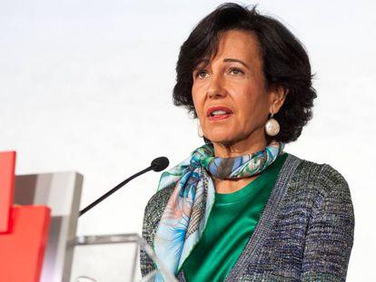 La presidenta de Banco Santander, Ana Botín, en una imagen facilitada por la entidad el pasado febrero.
