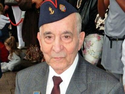 Rafael Gómez, el último español de La Nueve, en 2015.