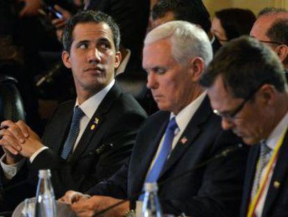Pence insiste en Bogotá en que no descarta ninguna opción para desalojar a Maduro, mientras el Grupo de Lima aumenta la presión diplomática