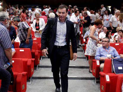 Tomás Gómez reunión del comité regional de los socialistas madrileños.