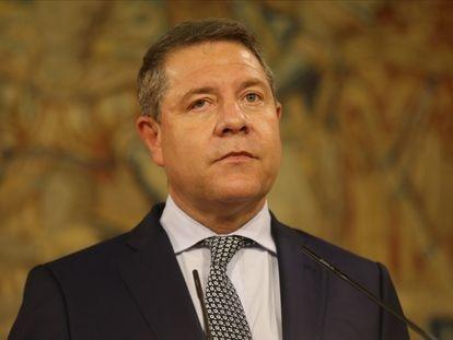 El presidente de Castilla-La Mancha, Emiliano García-Page, en un acto,