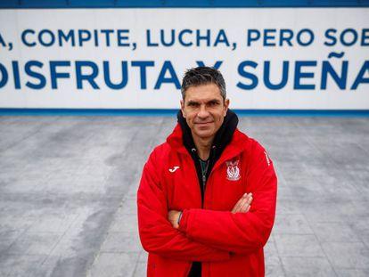 Mauricio Pellegrino, el jueves en la ciudad deportiva del Leganés.