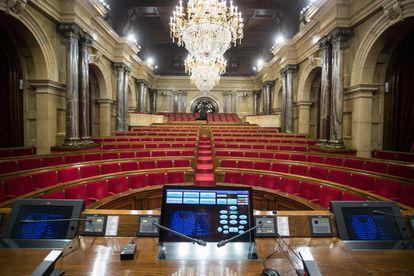 Hemiciclo del Parlament de Cataluña.
