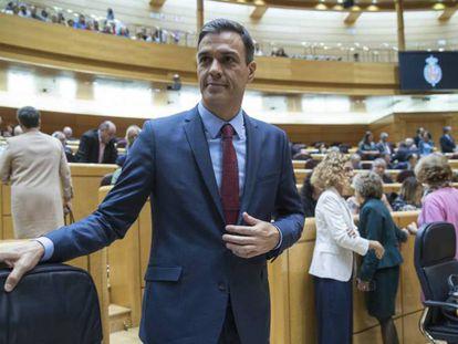 Foto: Pedro Sánchez, en una imagen de archivo en el Senado.
