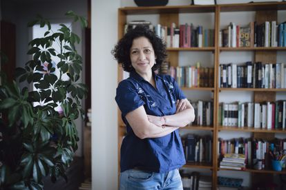 The writer Pilar Quintana, at her home in Cali after winning the Alfaguara Prize on January 21, 2021.