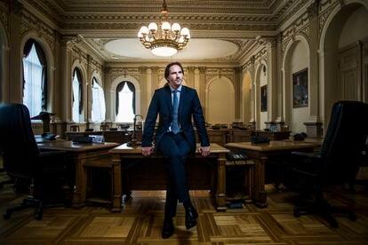 Marius Jurgilas, miembro del consejo del Banco de Lituania y el 'cerebro' de los cambios financieros del país.
