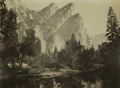 'Los Tres Hermanos'. Yosemite. (1863-1866)