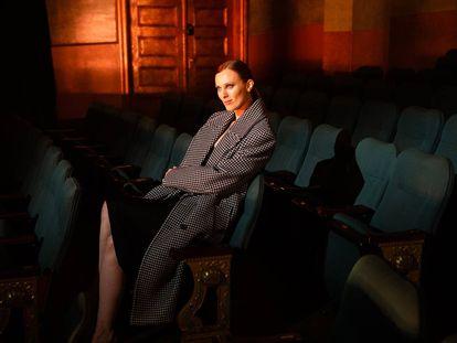 Karen Elson, en el vídeo con el que se presentó la colección de Michael Kors, este martes.