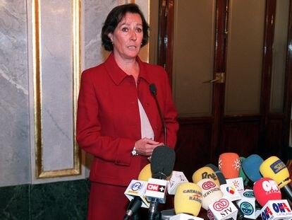 Margarita Mariscal de Gante, en el Congreso de los Diputados, en 2002.