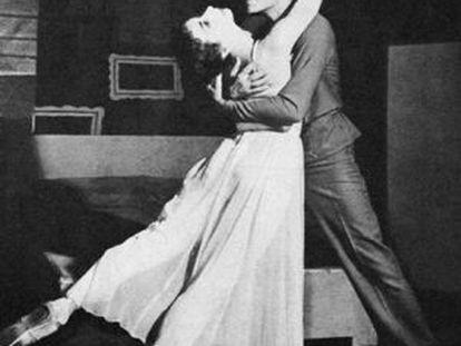 Paul Szilard, con Nora Kaye en 'Night fright'.