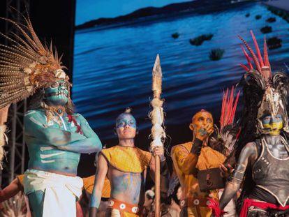 Un momento de la ópera 'Motecuhzoma II', este jueves en Ciudad de México.