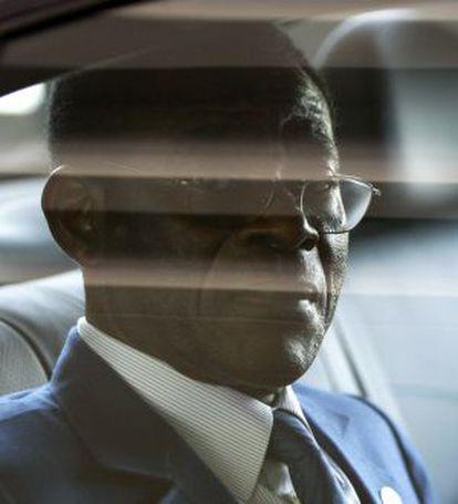 Teodoro Obiang, el 25 de julio de 2008, tras asistir a una cumbre internacional en Lisboa.