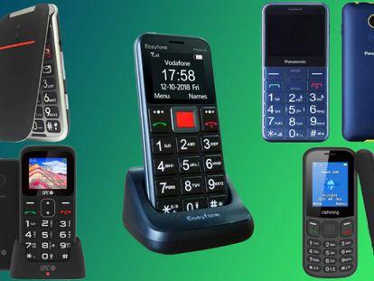 De entre los móviles para personas mayores analizados en la comparativa están los siguientes modelos: Artfone Flip CF241A, Easyfone Prime-A5, Panasonic KX-TU150EXC, Ukuu U180 y SPC Symphony 2.