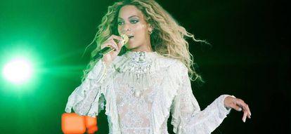 Beyoncé, durante una actuación.