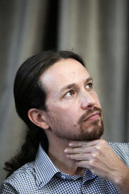 Pablo Iglesias, en una rueda de prensa el pasado 30 de mayo.