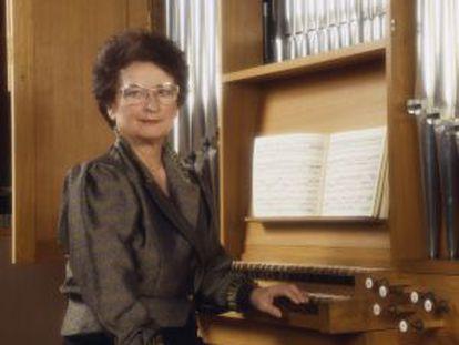 Marie-Claire Alain en una imagen de los ochenta.