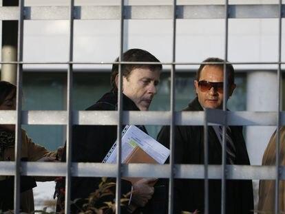 El médico canario Eufemiano Fuentes, en enero de 2013 en Madrid en el juicio de la Operación Puerto.