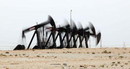 Imagen de un campo petrolero en Baréin.