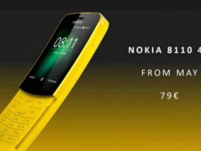 Nuevo Nokia 8110, con pantalla deslizante.