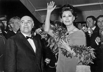 Sofia Loren y Carlo Ponti.