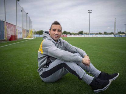 Santi Cazorla, en la Ciutat Esportiva del Villarreal.