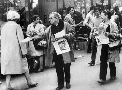 Jean-Paul Sartre y Simone de Beauvoir, en 1968.