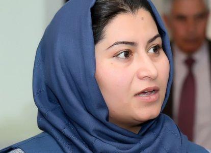 La periodista afgana Humira Saqib.