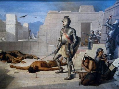 'La matanza de Cholula' de Félix Parra (1877)