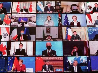 Cumbre global del clima llevada a cabo por videoconferencia a principios de este año.