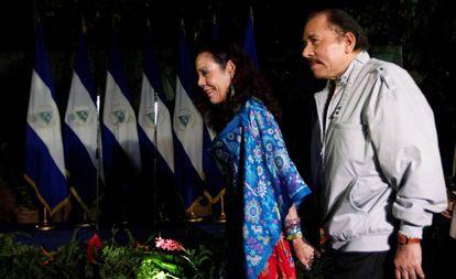 Daniel Ortega y Rosario Murillo en las elecciones del pasado 6 de noviembre.