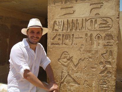 Madrid novelist and diplomat Luis Melgar, portrayed in Egypt.