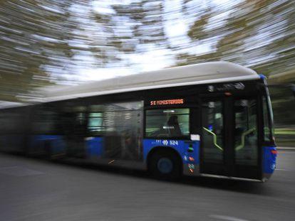 Un autobús de la EMT en noviembre de 2019.