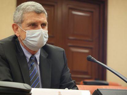 Jose Manuel Pérez Tornero al ser examinado por el Congreso para la renovación del Consejo de RTVE.